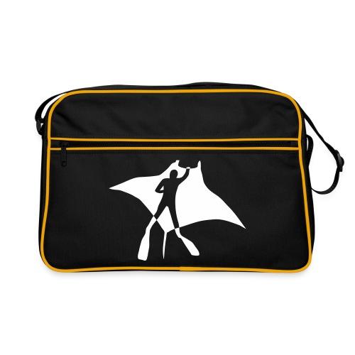 tier t-shirt manta ray rochen taucher tauchen scuba diving dive - Retro Tasche