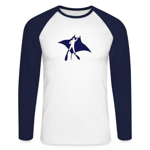 tier t-shirt manta ray rochen taucher tauchen scuba diving dive - Männer Baseballshirt langarm