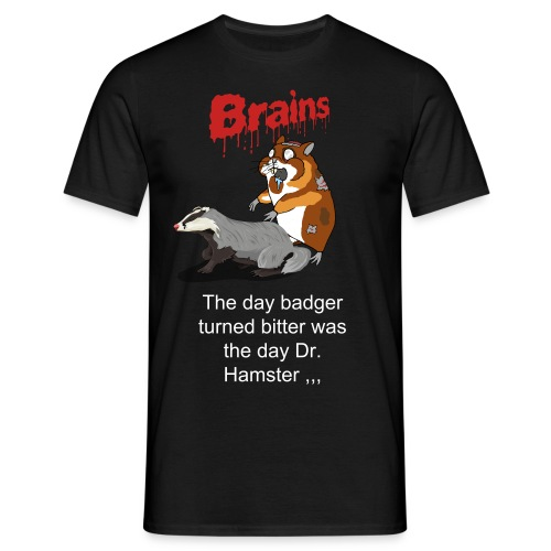 Bitter badger vs. Dr. Hamster - Herre-T-shirt