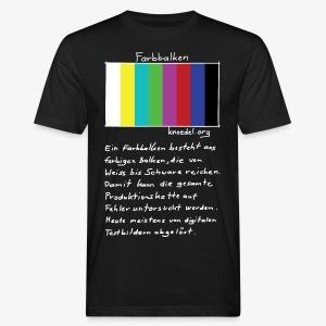 Filmtalk Farbbalken | T-Shirt Bio (CC) | Men - Männer Bio-T-Shirt