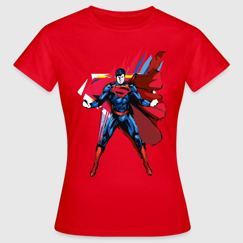 Superman Power Pose dame-T-shirt - Dame-T-shirt