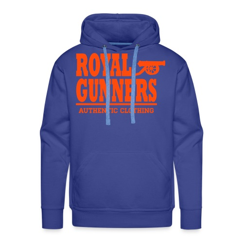 Royal Gunners authentic bleu royal, motif neon - Sweat-shirt à capuche Premium pour hommes