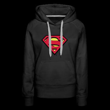 superman s shield in flex hoodie f r frauen. Black Bedroom Furniture Sets. Home Design Ideas