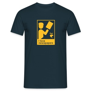 I love newspapers - Männer T-Shirt