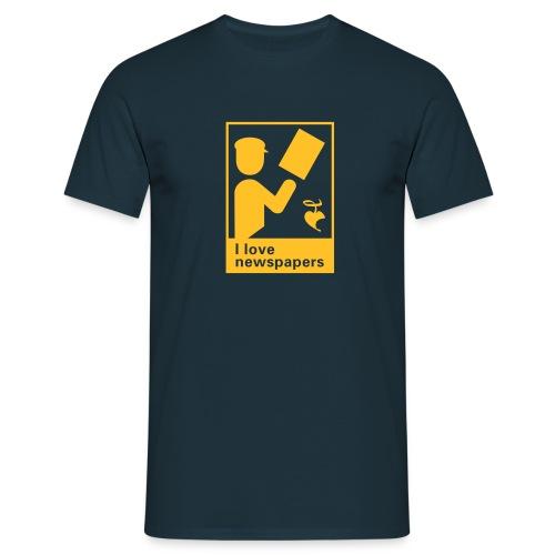 I love newspapers - Männer T-Shirt