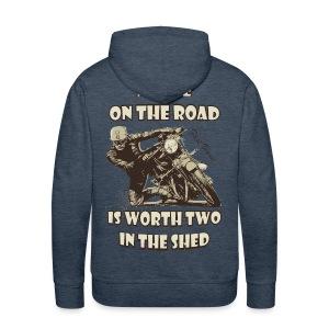 A bike on the road - Men's Premium Hoodie