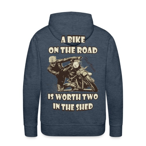 A bike on the road - Men's Premium Hoodie