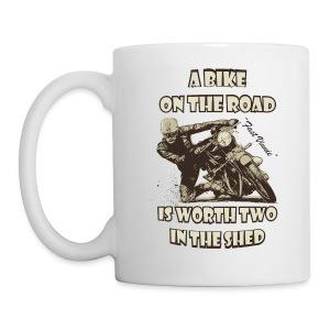 A bike on the road - Mug