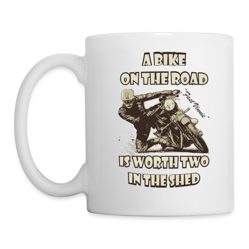 A bike on the road - Mug