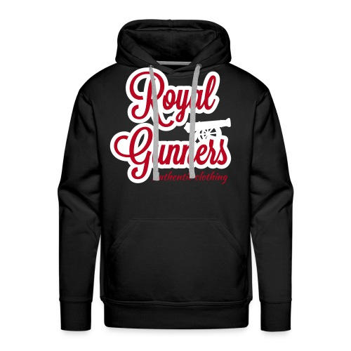 Royal Gunners authentic tag noir - Sweat-shirt à capuche Premium pour hommes