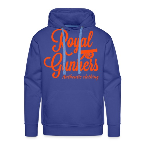 Royal Gunners authentic tag 1couleur,  bleu royal - Sweat-shirt à capuche Premium pour hommes