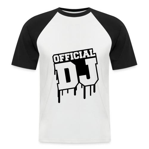 official dj t-shirt - Mannen baseballshirt korte mouw
