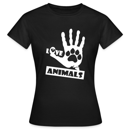 Love Animals - Maglietta da donna