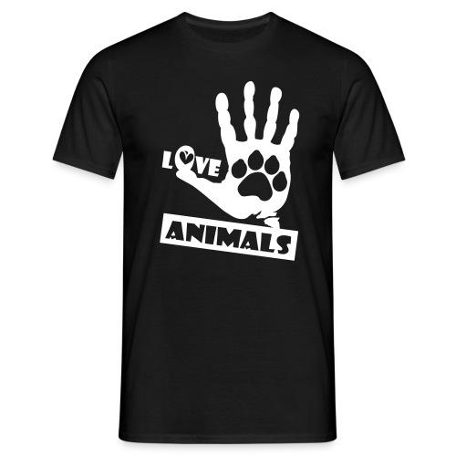 Love Animals - Maglietta da uomo