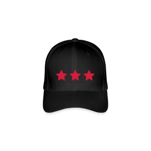 3 Stars - Red - Flexfit Baseball Cap