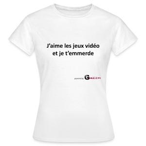 J'aime les jeux vidéo... - T-shirt Femme