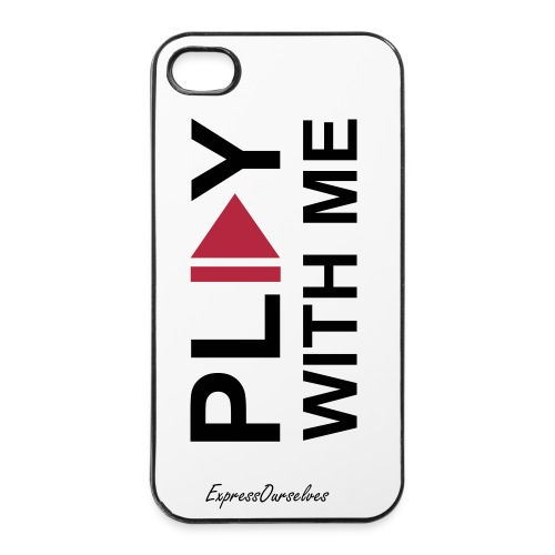 Coque iPhone 4/4S  Play With Me - Coque rigide iPhone 4/4s