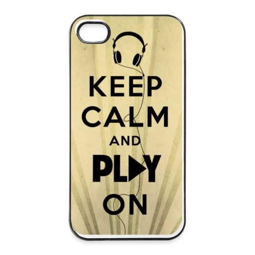 Funda Keep Calm and Play on - Carcasa iPhone 4/4s