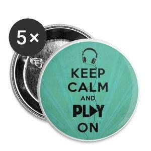 Chapas Keep Calm and Play on - Chapa pequeña 25 mm