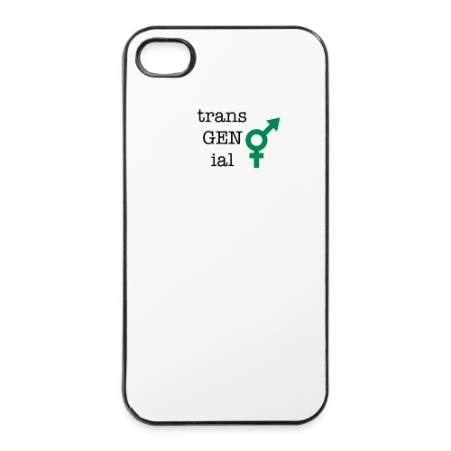 trans GEn ial -iphone hülle - iPhone 4/4s Hard Case