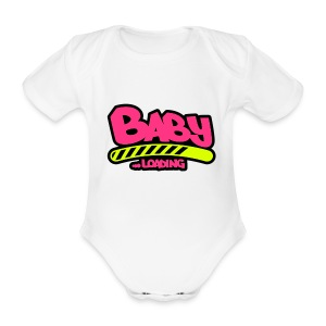 baby loading... - Organic Short-sleeved Baby Bodysuit