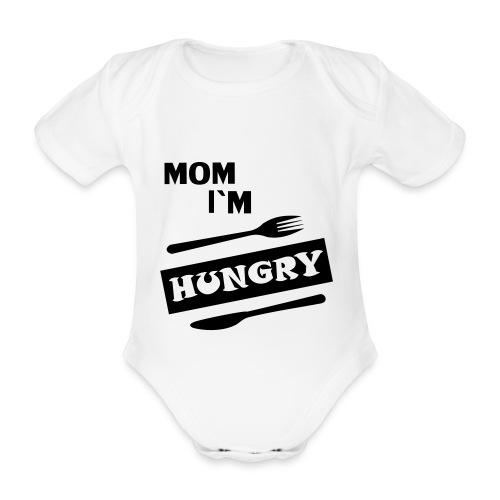 mom im hungry babygrow - Organic Short-sleeved Baby Bodysuit