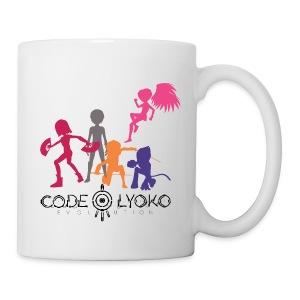 Code Lyoko Evolution silhouettes - Mug blanc