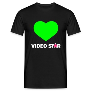Video Star Magic Heart Men's Adult Tee - Men's T-Shirt