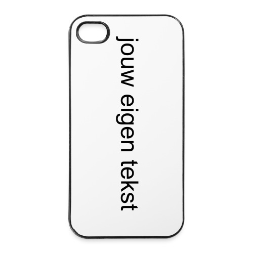 Iphone 4/4s Cover - eigen tekst - iPhone 4/4s hard case