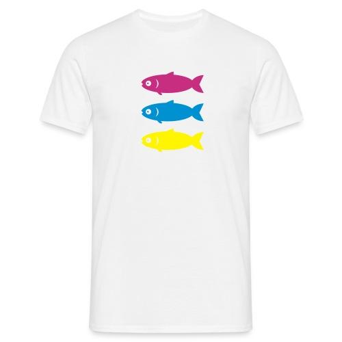 Multi Coloured Fish - Men's T-Shirt