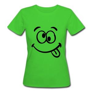 Crazy eyes smiley - Women's Organic T-shirt