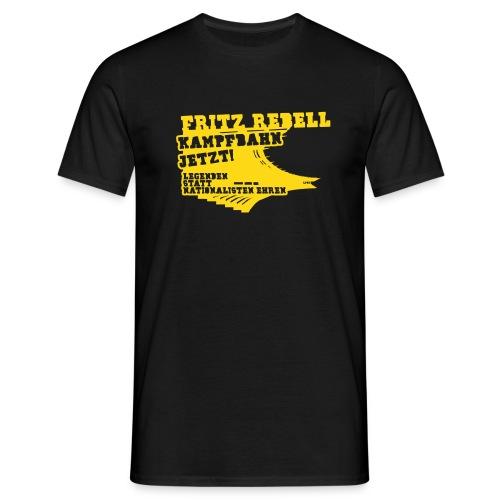 Fritz Rebell Kampfbahn [invers] - Männer T-Shirt