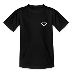 LOGO - classic black t-shirt kids - Teenager T-Shirt