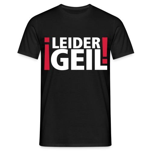 Logo Leider geil - Männer T-Shirt