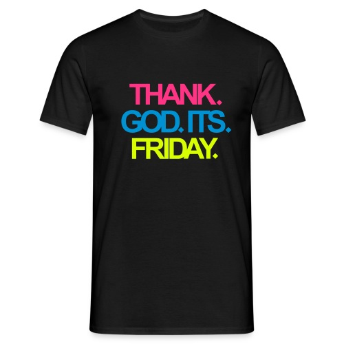 Logo Thank God its Friday - Männer T-Shirt