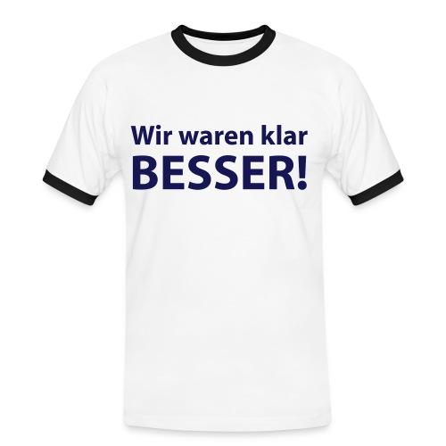 Foxxxy Fantasies - Klar besser (mit Logo auf der Rückseite) - Männer Kontrast-T-Shirt