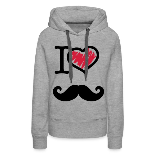 I LOVE MUSTACHE - Vrouwen Premium hoodie