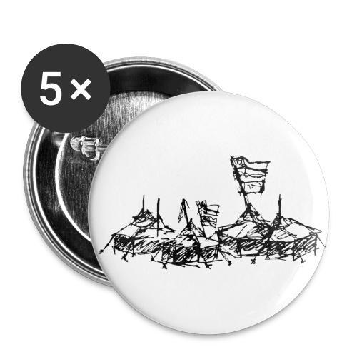 Mein Dorfbutton - Buttons groß 56 mm