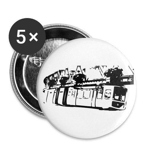 Wo die Busse Fliegen - Buttons groß 56 mm