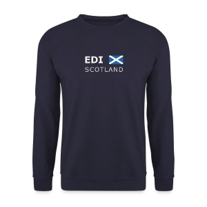 Men's Pullover EDI SCOTLAND white-lettered - Men's Sweatshirt