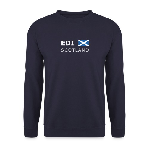 Men's Pullover EDI SCOTLAND white-lettered - Men's Sweatshirt