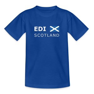 Teenager T-Shirt EDI SCOTLAND white-lettered - Teenage T-shirt