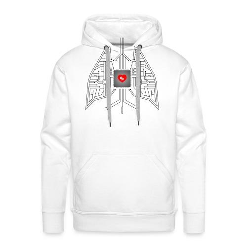 Nerd Heart hoodie - Men's Premium Hoodie