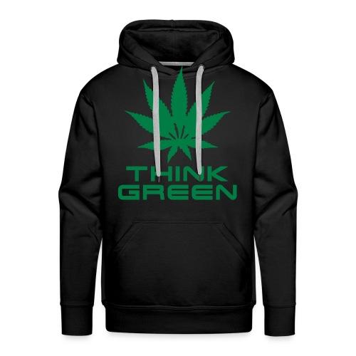 Think Green Hoodie - Men's Premium Hoodie