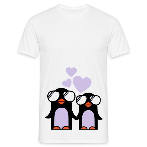 Pingviner (hvit) - T-skjorte for menn