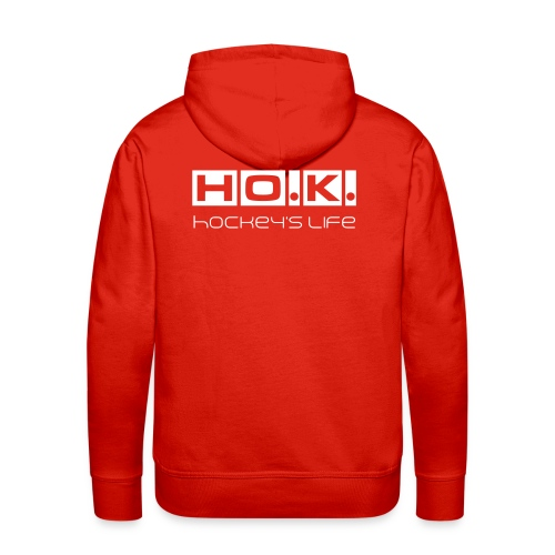 HOK Life weiß - Männer Premium Hoodie