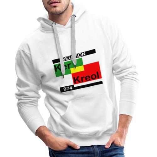 Sweat-shirt à capuche Homme 974 Ker Kreol Carr Rasta - Sweat-shirt à capuche Premium pour hommes