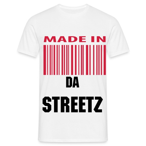 34K MADE IN DA STREETZ BARCODE T  - Men's T-Shirt