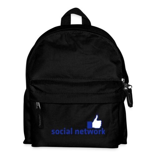 social network mit button | Rucksack - Kinder Rucksack