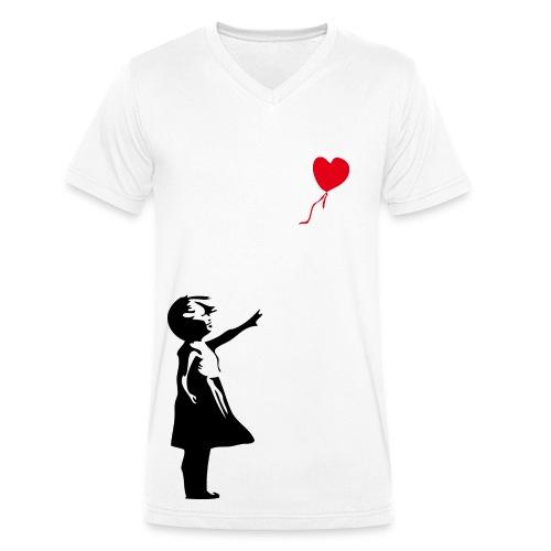 Das Mädchen mit dem roten Ballon - Männer Bio-T-Shirt mit V-Ausschnitt von Stanley & Stella